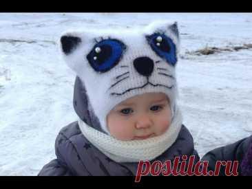 """«Шапочка """"Кошка"""" крючком (Cap """"cat"""" crochet) - YouTube» — карточка пользователя светлана Пророкова в Яндекс.Избранном"""