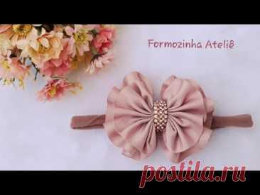 Laço franzido fácil  - Poly Formozo