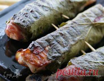 Как приготовить Семга в виноградных листьях на гриле  Пошаговый рецепт с ингредиентами и фото