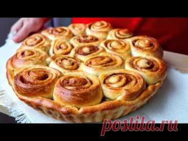 Идея, КАК ВКУСНО ПРИГОТОВИТЬ ЯБЛОКИ! Яблочный пирог СИННАБОН! Замечательная выпечка, где много яблок