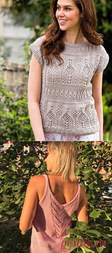 7 красивых летних женских топов спицами, схемы прилагаются | Paradosik_Handmade | Яндекс Дзен