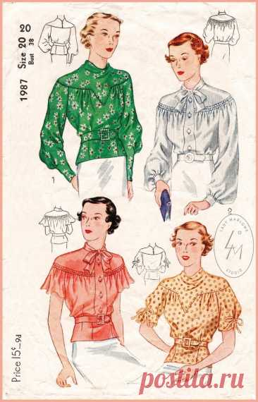 Женские блузки на кокетке