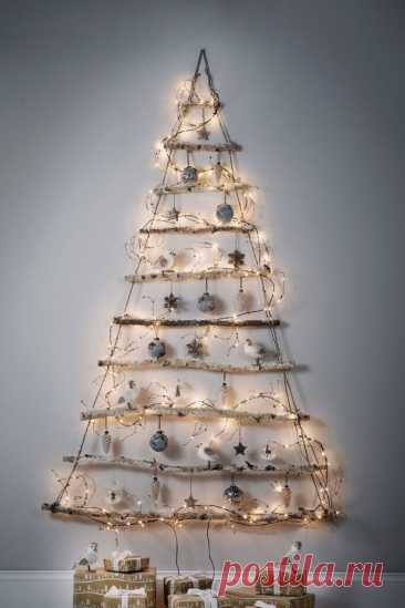 Настенная новогодняя елка своими руками: 26 идей для дома и офиса