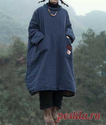 Winter Linen midi dress Oversized dress linen Kaftan Womens   Etsy
