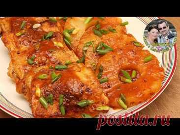 Одна сковородка, 30 минут, и невероятно нежная и вкусная курица в соусе с ананасами, у вас на столе.