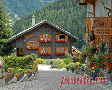 Деревня Грименц(Grimentz),Швейцария