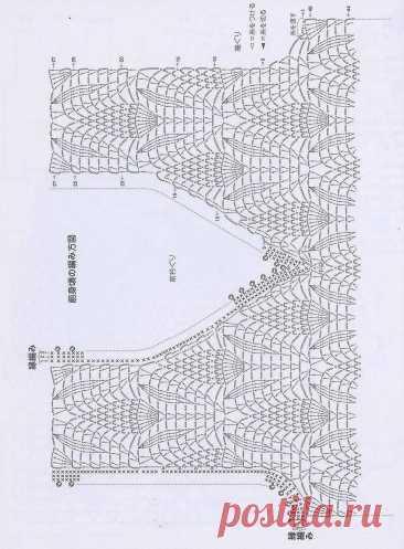 Азиатские жилеты спицами со схемами   Галина Knitting   Яндекс Дзен