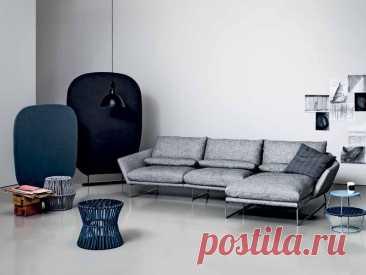 Классический серый диван для дома   Роскошь и уют