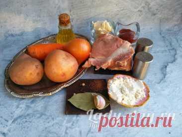 Гуляш из свинины с подливкой с картошкой: рецепт с фото пошагово | Простые рецепты с фото