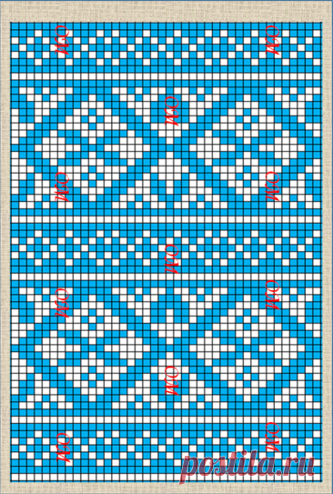 Нарисовала еще 25 интересных наборов схем для жаккардового вязания спицами по фотографиям образцов из интернета   ЖАККАРДос   Яндекс Дзен