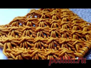 "Вяжем рельефный узор ""Звёздочки"" 🙋♀️ knitting pattern."