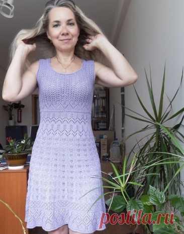 Летний сарафан спицами для женщин, Вязание для женщин