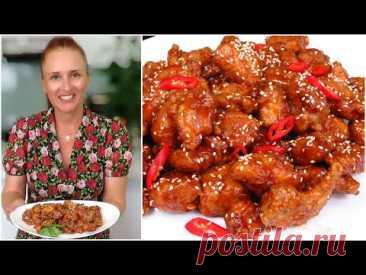 Кусочки курицы в соусе Курица по-китайски Люда Изи Кук Блюдо из курицы Азиатская кухня honey chicken