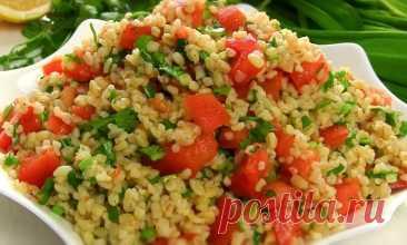 Постный Супер Салат с булгуром и овощами на каждый день!
