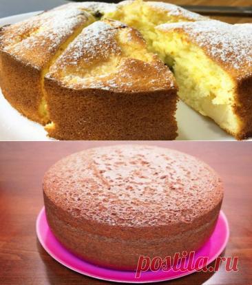 Очень вкусный и простой в приготовлении бисквитный пирог - готовить одно удовольствие! - be1issimo.ru