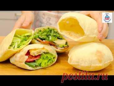 ФАНТАСТИЧЕСКАЯ ПИТА мягкие, воздушные карманы для еды! Ночное Тесто English subtitles