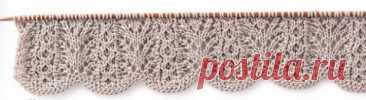 Красивые узоры спицами с волнистым краем 3 узораиз книги Yoko Hatta » Japanese Knitting Stitches from Tokyo's Kazekobo... Читай дальше на сайте. Жми подробнее ➡