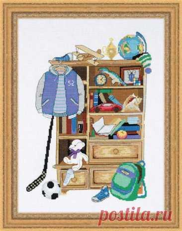 Шкафчик для мальчика арт.1372 Риолис купить в Stitch и Крестик