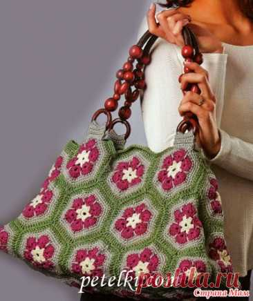Bag from motives the African flower