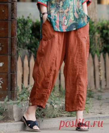 Womens Linen pants linen harem pants Linen turnip pants   Etsy