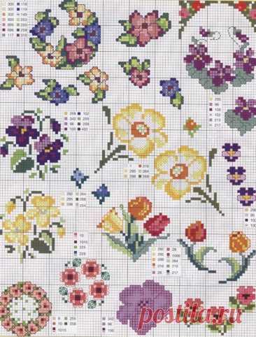 Маленькие схемы вышивки крестом ⋆ Страна Рукоделия - вязание и вышивка своими руками