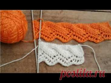 Latest and new knitting border design#149 for ladies /kids sweater, Cardigan, jacket, hineck, kurti.