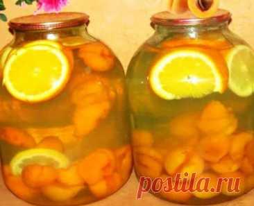 """""""Фанта"""" из абрикосов и апельсинов на зиму - лучший сайт кулинарии"""