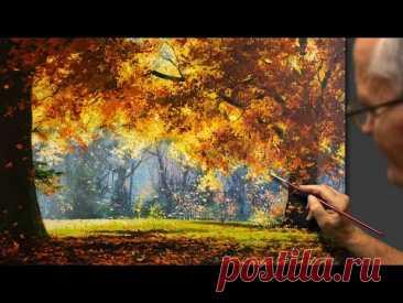 """Autumn music"" (Landscape) Acrylic. Artist - Viktor Yushkevich. #86 photos in 2021."
