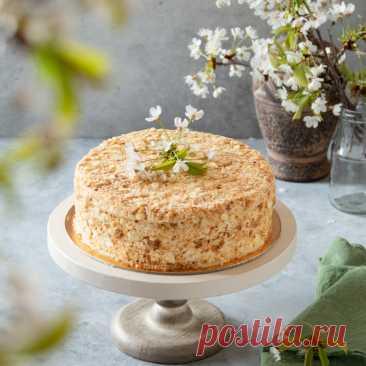 """Торт """"Хрустящий Наполеон"""" - пошаговый рецепт с фото"""