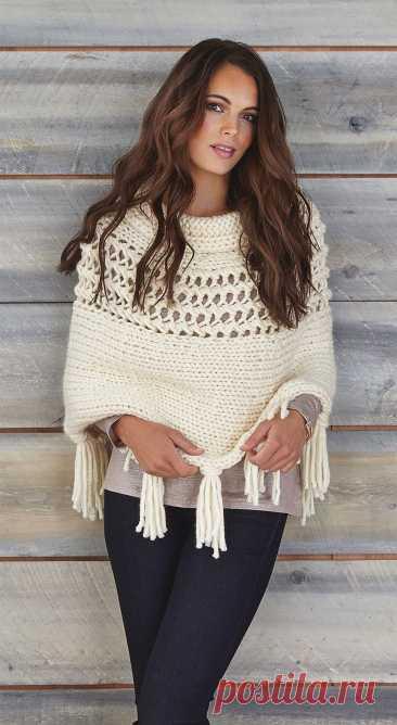День вязания крючком: ажурная одежда для осени.Идеи.