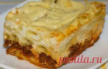 Пастицио – вкуснейшая запеканка из макарон с сочным фаршем