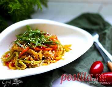 «Спагетти» из кабачков и моркови, пошаговый рецепт на 557 ккал, фото, ингредиенты - daiquiri