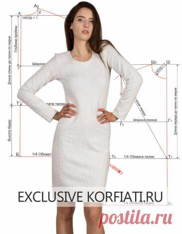 Выкройка платья без вытачек от Анастасии Корфиати
