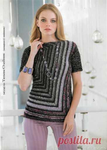 Журнал Мод. Вязание №633 2021 | Женская одежда крючком. Схемы и описание