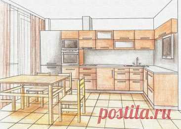 Чертеж и схема кухни с размерами своими руками