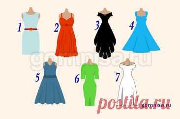 Женский тест - Выберите платье, получите характеристику и комплимент
