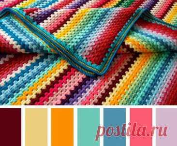 Как правильно сочетать цвета в вязании… Очень нужная шпаргалка, СОХРАНЯЙТЕ!