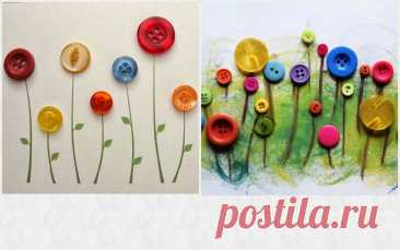 5 способов сделать красивые цветы из пуговиц, показываю «красоту», которая меня вдохновляет | Милла о хобби | Яндекс Дзен