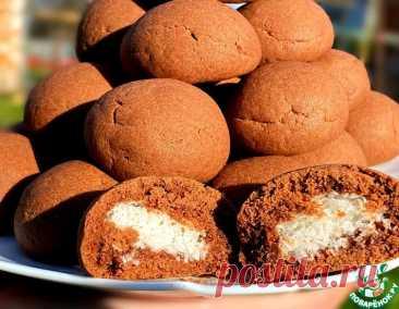 Шоколадное печенье с кокосовой начинкой – кулинарный рецепт