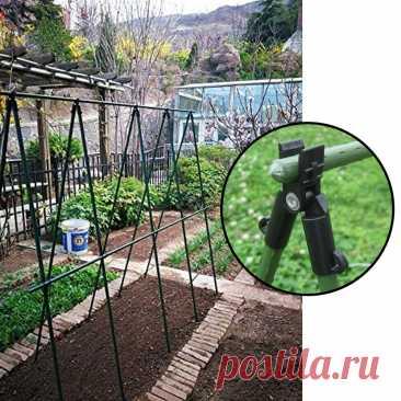 Опора для растений, аксессуары для тентов, столбов, зажим, быстрая установка, подъемный кронштейн для лозы, стальные трубы для растений, садовая опора, 5 шт.   Дом и сад   АлиЭкспресс