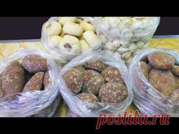 Как из 5 кг  мяса сделать 10 кг  полуфабрикатов  Заготовка еды на месяц впрок!