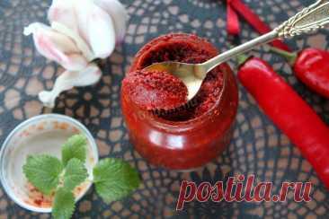 Аджика без хрена без варки по-абхазски рецепт с фото пошагово и видео - 1000.menu