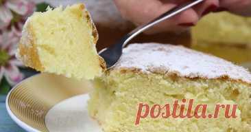 Итальянский пирог «12 ложек». Приготовление воздушного бисквита без весов. Готовлю за 40 минут.
