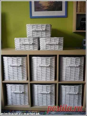 Как облагородить картонные коробки бумажными трубочками