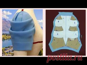 Thiết kế Tay áo xếp ly kiểu vòng cung đẹp  sleeve design  lena Sewing  