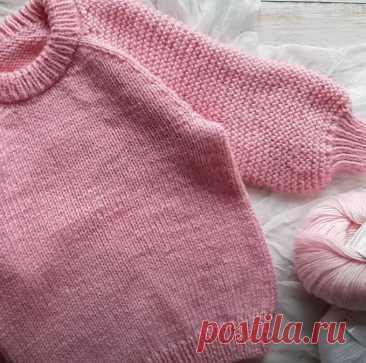 Как связать красивый пуловер спицами для девочки