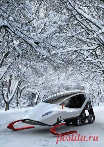 Красивые и удивительные снегоходы