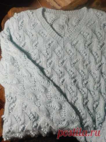 """Пуловер """"Ландыши на снегу"""""""