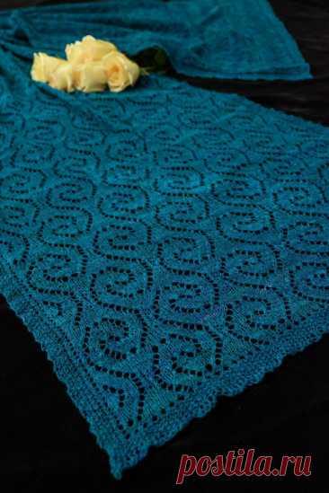 Шикарный палантин «Море снов» с описанием вязания и схемами | Сундучок с подарками | Яндекс Дзен