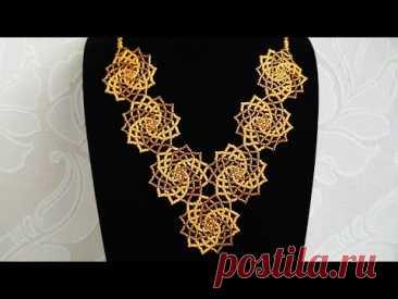 Necklace. Колье из бисера. МК